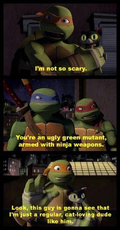 Mikey, the cat guy Ninga Turtles, Ninja Turtles Art, Teenage Mutant Ninja Turtles, Tmnt Human, Tmnt Mikey, Tmnt 2012, Fan Art, The Incredibles, Funny
