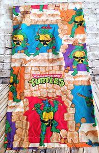 """Vintage Teenage Mutant Ninja Turtle Curtain Panel Fabric 62"""" x 40 Repurpose 1988   eBay"""