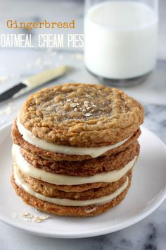 Gingerbread Oatmeal Cream Pies