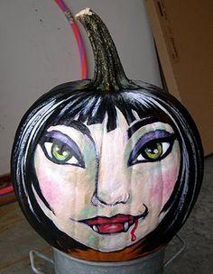 Adrienne Trafford Art Blog: Painted Pumpkin for the Fair
