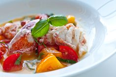 An absolute MUST -Butter Poached Lobster Recipe with Fresh Tomatoes | Steamy Kitchen Recipes