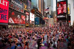Solstice in Times Square 2012 by Times Square NYC, via Flickr