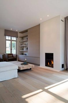 fireplace fall decor for living room modern 12 New Living Room, Living Room Modern, Living Room Interior, Home And Living, Living Room Designs, Living Room Decor, Fall Fireplace, Fireplace Design, Modern Fireplace
