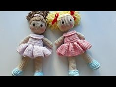 Boneca Eloá Amigurumi | Parte 1 - Corpinho - YouTube Knitted Dolls, Crochet Dolls, Knitting Patterns, Crochet Patterns, Amigurumi For Beginners, Amigurumi Tutorial, Stuffed Toys Patterns, Amigurumi Doll, Crochet Animals