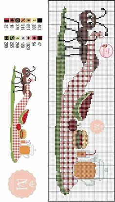Cross Stitch Samplers, Cross Stitch Embroidery, Cross Stitch Kitchen, Loom Patterns, Loom Beading, Diy Projects To Try, Blackwork, Bookmarks, Sissi