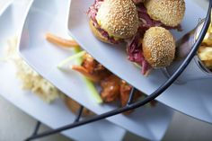 Enjoy one of Montreal's classic dishes with these delicious mini smoked meat burgers!