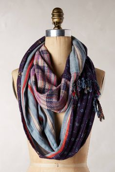 Ace & Jig Fela Loop Patched Scarf | Anthropologie Online Exclusive