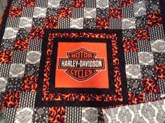 Harley-Davidson Quilt Panels | Harley Davidson fabric panel new ... : harley davidson quilting fabric - Adamdwight.com