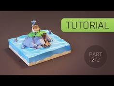 [Tutorial] Creating Low Poly (stylised) Cartoon Hut on the Island in Blender 3d [Part 2] - YouTube