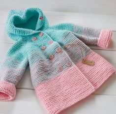 Crochet baby gifts girl sweater patterns 69 Ideas for 2019 Knitted Baby Cardigan, Knitted Baby Clothes, Baby Girl Patterns, Baby Knitting Patterns, Sweater Patterns, Baby Sweaters, Girls Sweaters, Kurti Embroidery Design, Baby Coat
