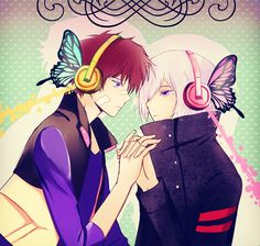 Nice x Art - Hamatora, Not shipping it(or maybe I am I dunno) but this is just too pretty~