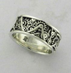 Steampunk ring,Wedding band