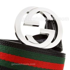 Gucci Calfskin Leather Belt with Canvas Trim, Black/Green/Red , Comfortable leather lining.Fine AAA grade item;Complete your look with the exquisite belt from Gucci only spend $79.00 with Free Shipping, Plenty of discount gucci belts can find here: www.getwatchesale.com/cheap-gucci-belts-on-sale-cb269.html