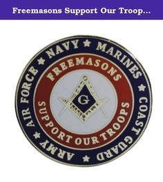 Freemasons Support Our Troops One Inch 24k Gold Plated Lapel Pin. God Bless Our Military Defenders of Freedom This masonic military lapel pin shows the pride our Masons have and we want to stand tall in support of our troops by showing this beautiful lapel pin. Buy several as gifts for your friends.