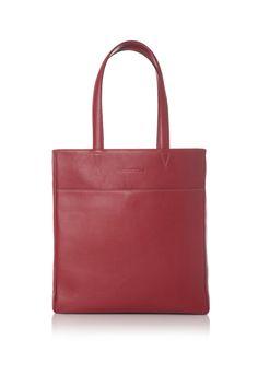 LACAMBRA Red Leather Tote