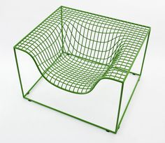 The digitally-designed Grid chair is a lightweight armchair that combines fluid form with cutting-edge technology. Its weightless shape is constructed from lengths of steel thread overlaid in a pattern that mimics the appearance of weaving. Grid''s distinctive pattern is etched into the surface of the 'Concrete Things' chair, creating two chairs that complement each other. …
