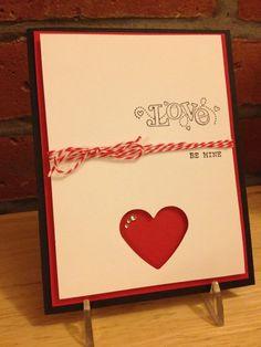 Handmade Be Mine Card. $4.75, via Etsy.