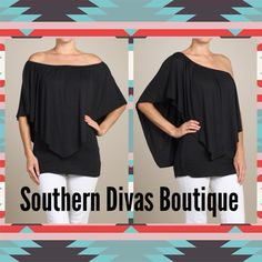Convertible Top! Can be worn 4 different ways!  Aavailable in stores or online at Southerndivasboutique.com