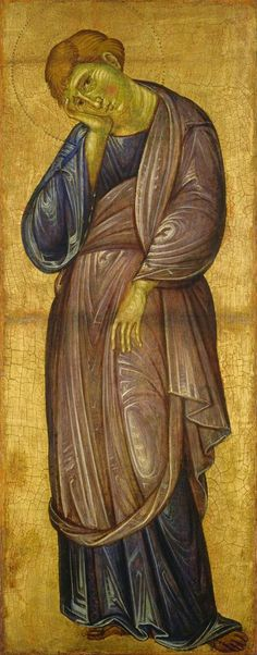Maestro del Borgo Crocifisso (Maestro dei Crocifissi Francescani) (Maestro dei Crocifissi Blu) - San Giovanni Evangelista - c.1272 - National Gallery of Art, Washington