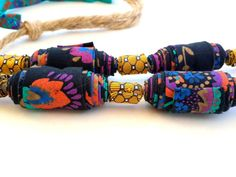 Extra large colorful necklace extra lage necklace by Gilgulim