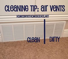 Tip for quick clean air vents