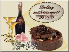 Wine Bottle Images, Happy Birthday, Birthday Cake, Name Day, Humor, Desserts, Food, Fotografia, Happy Aniversary