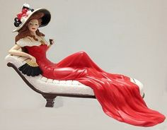 """Coca-Cola - """"Relaxing Moments with Coca Cola"""" -  Delicious Anticipation Lady Figurine on Chaise"""