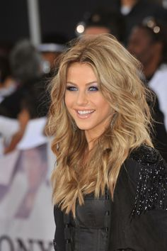 Julianne Hough's beautiful color, volume, and waves.  Link to a celeb gossip site.