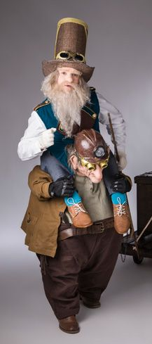 steampunk piggyback costume made by Tentacle Studio