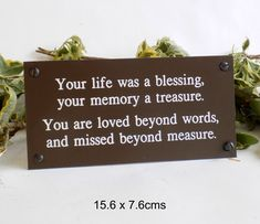 Personalised Memorial Bench Plaque by England Signs, the perfect gift for Explore more unique gifts in our curated marketplace. Funeral Memorial, Wedding Memorial, In Memory Of Dad, In Loving Memory, Memorial Garden Plaques, Mom Dad Anniversary, Happy Birthday In Heaven, Cemetery Decorations, Memories Quotes