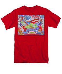 Happy Independence Day T-Shirt by Tiana Art