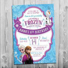 Invitación fiesta de cumpleaños de congelados por thepartystork