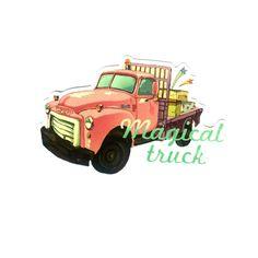 #1178 Magical Truck , Width 8 cm, decal sticker - DecalStar.com