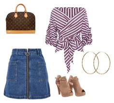 Untitled #105 by heta-makinen on Polyvore featuring Johanna Ortiz, Topshop, Louis Vuitton and Pernille Corydon