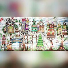 Casas de luxo.  #arvore #folhas #casas #dia #nuvens #clouds #florestaencantada #livrodecolorir #johannabasford #meucolorido #antiestresse  #amopintar #20likes #follow4follow #like4like #instalike #coloringbookbr #editorasextante #instadaily #followme  #instagood #colorfull #follow #webstagram #florestaencantadadkpm  #instalove #instaDKPM #instapopular #instapic #trocolikes  @coolorindo @my.colorful @siaofon_chang @jardim_da_isa @terapianojardim @jardimcolorido @prazeremcolorir