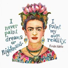 Day of is Frida Kahlo. - Michelle Scott Illustration Day of is Frida Kahlo. Diego Rivera, Salvador Dali, Calvin And Hobbes, Wassily Kandinsky, Nickolas Muray, Frida Kahlo Portraits, Kahlo Paintings, Frida And Diego, Frida Art