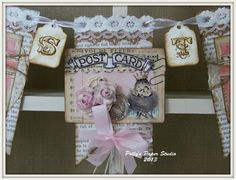 shabby chic craft file pocket   images | ve added loads of pretty ribbon from Really Reasonable Ribbon and ...