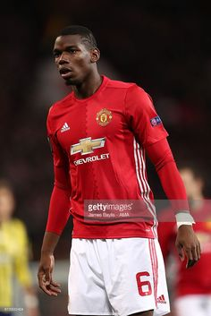 Paul Pogba of Manchester United looks on during the UEFA Europa League match between Manchester United FC and Fenerbahce SK at Old Trafford on October 20, 2016 in Manchester, England.