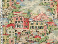 Venice Italy toile fabric