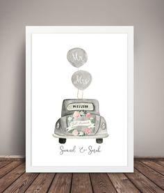 MR & MRS HOCHZEIT Kunstdruck personalisiertes | Etsy Mr Mrs, Wedding Cards, Wedding Gifts, Wedding Congratulations Card, Watercolor Cards, Just Married, Cross Stitch Patterns, Greeting Cards, Clip Art