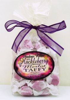 Shadow River Wild Huckleberry Gourmet Merlot Taffy 8 oz - http://bestchocolateshop.com/shadow-river-wild-huckleberry-gourmet-merlot-taffy-8-oz/