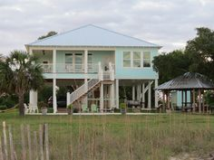 """Ocean Springs Vacation Rental - VRBO 353685 - 3 BR MS House, """"Seaglass""""-Perfect Beach House with Pool, Peaceful and Private"""