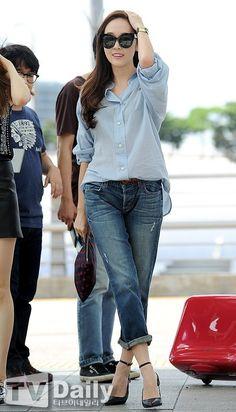 SNSD Jessica Airport Fashion 140802 2014 #Jessica #SNSD