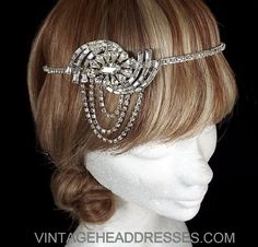 Vintage Art Deco 1920's Side Drape Flapper by VintageHeaddresses