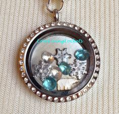 Winter Theme Snowflake Polar Bear & Snow by LoveLivingLockets, $24.99 for Origami Owl