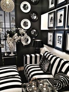 Bedroom. Cool Modern Style Black And White Room Decor. Interesting Small Living Room Design Ideas Singapore Decorating With Black And White Fabric Couches Features Glass Tables And Glossy Stand Lamp Near Flower Decoration As Well As Red Black And White Kitchen Decor Plus Black And White Contemporary Furniture