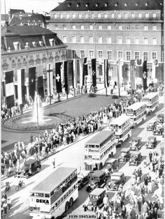 Buses serving during XI Olympic games in Berlin, 1936
