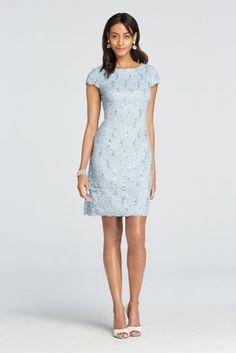Silver sensation evening dress by alex evenings