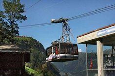 Gondola to Gimmelwald, Switzerland Travel Around The World, Around The Worlds, Swiss Alps, European Countries, Great Memories, Austria, Switzerland, Travel Photos, The Good Place