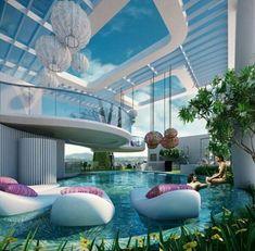Giardino al coperto, un progetto di architettura futuristica